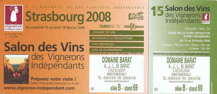 Domaine barat jo lle michel accompagn s de martine - Salon des vignerons independants strasbourg ...