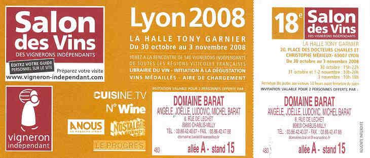 Domaine barat fid le au poste jo lle michel seront pr sents au 28e salon des vignerons - Salon des vignerons independants lyon ...